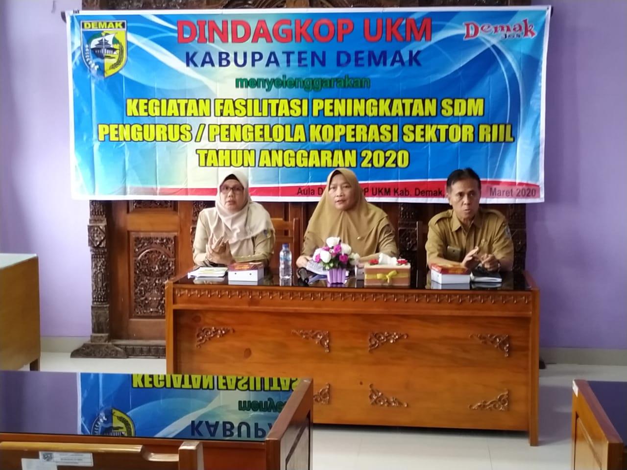 Kegiatan Fasilitasi Peningkatan SDM Pengurus/Pengelola Koperasi Sektor Riil Angkatan II