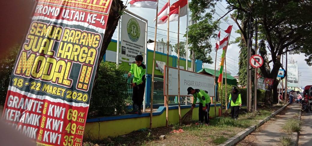 Kerja Bakti Dalam Rangka HUT Kabupaten Demak Di  Pasar Karanganyar  UPTD V