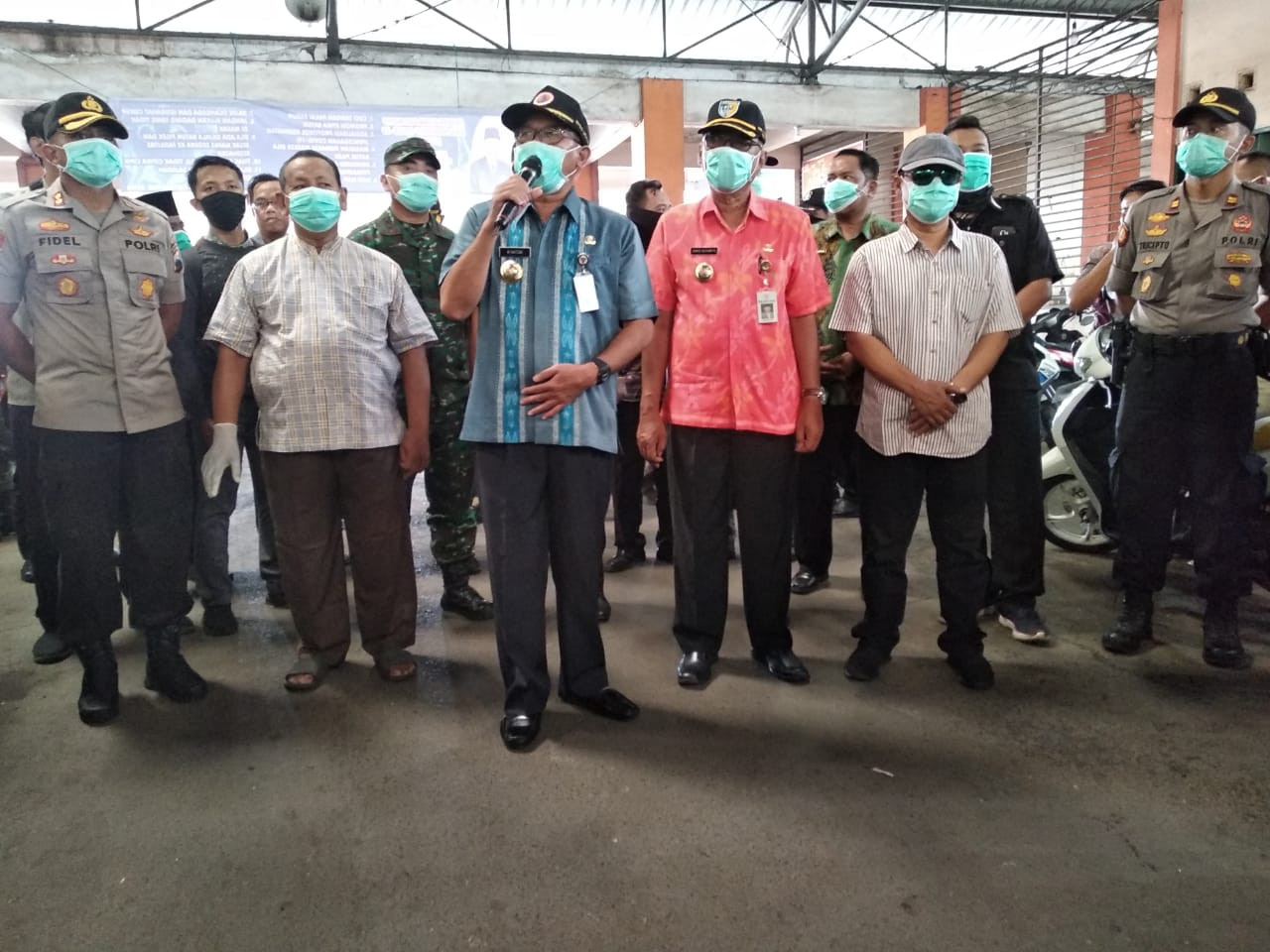 Kegiatan Pemantauan Harga Kepokmas Dan Sosialisasi Pencegahan Penyebaran Covid 19 Di Pasar Bintoro