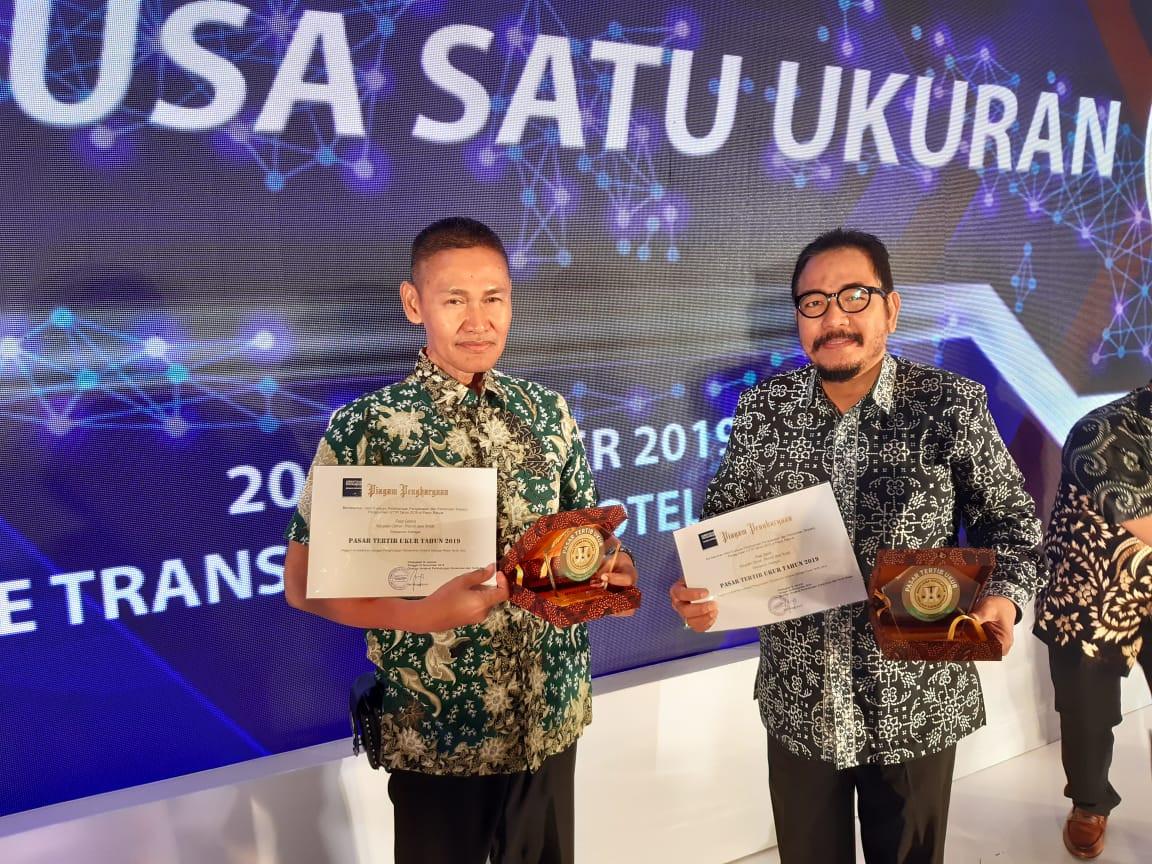 Penghargaan Tahun 2019 Berkaitan Pasar  Tertib Ukur Untuk Pasar Gablok Dan Pasar Gebang