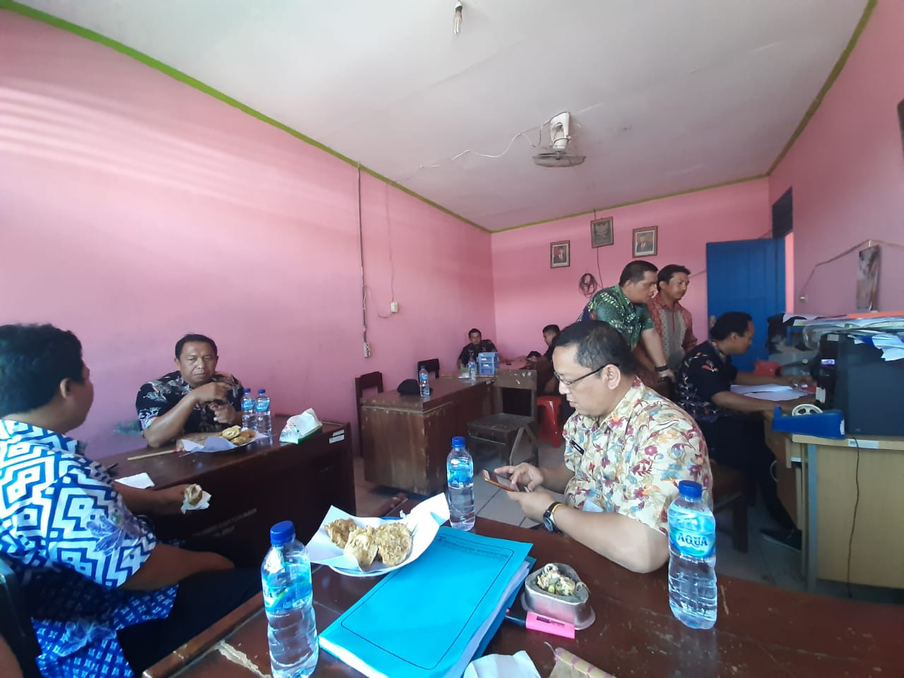 Pembinaan Staf di Pasar Gajah Oleh Bapak Kadinas Dindagkop UKM