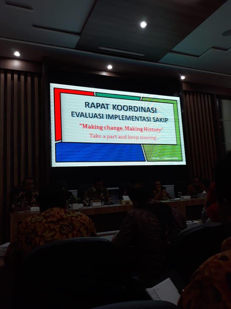 Rapat Koordinasi Evaluasi Implementasi SAKIP