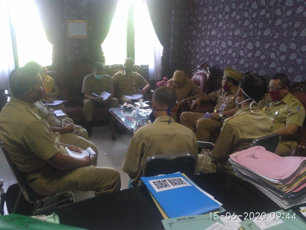 Rakor Evaluasi Tentang Jam Operasional Pasar Rakyat Di Kabupaten Demak