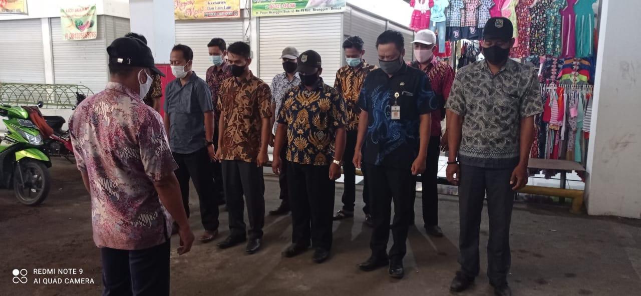 Penjagaan Pasar Kabupaten Demak DI UPTD Paswil III Pasar Mranggen Serta Apel Pagi Protokol Kesehatan