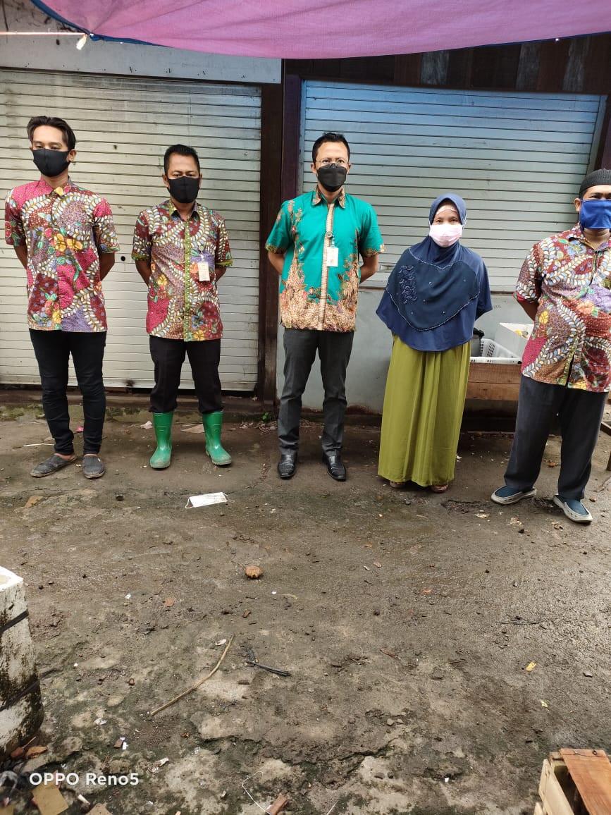 Penjagaan Pasar Kabupaten Demak DI UPTD Paswil I Pasar Gebang Serta Apel Pagi Protokol Kesehatan