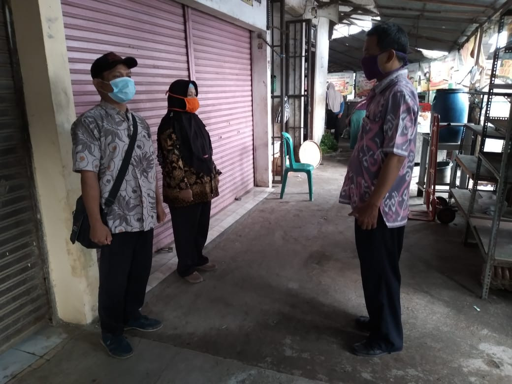 Penjagaan Pasar Kabupaten Demak DI UPTD Paswil I Pasar Wonosalam Serta Apel Pagi Protokol Kesehatan