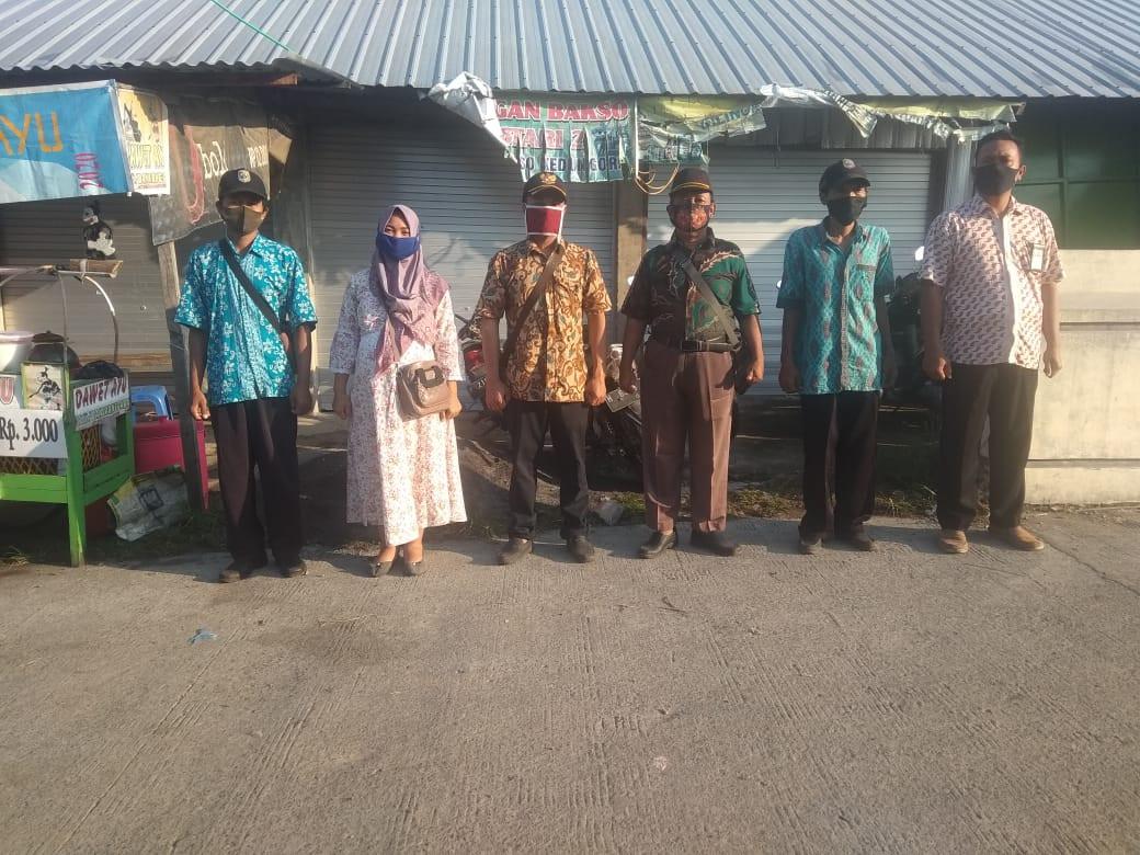 Penjagaan Pasar Kabupaten Demak DI UPTD Paswil V Pasar Wonopolo Serta Apel Pagi Protokol Kesehatan