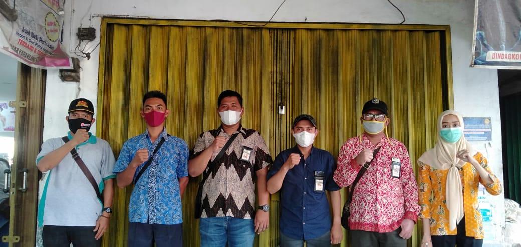 Penjagaan Pasar Kabupaten Demak DI UPTD Paswil IV Pasar Brambang Serta Apel Pagi Protokol Kesehatan