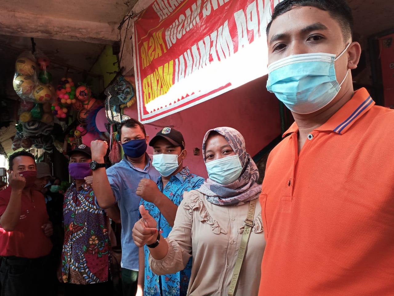 Penjagaan Pasar Kabupaten Demak DI UPTD Paswil V Pasar Gajah Serta Apel Pagi Protokol Kesehatan