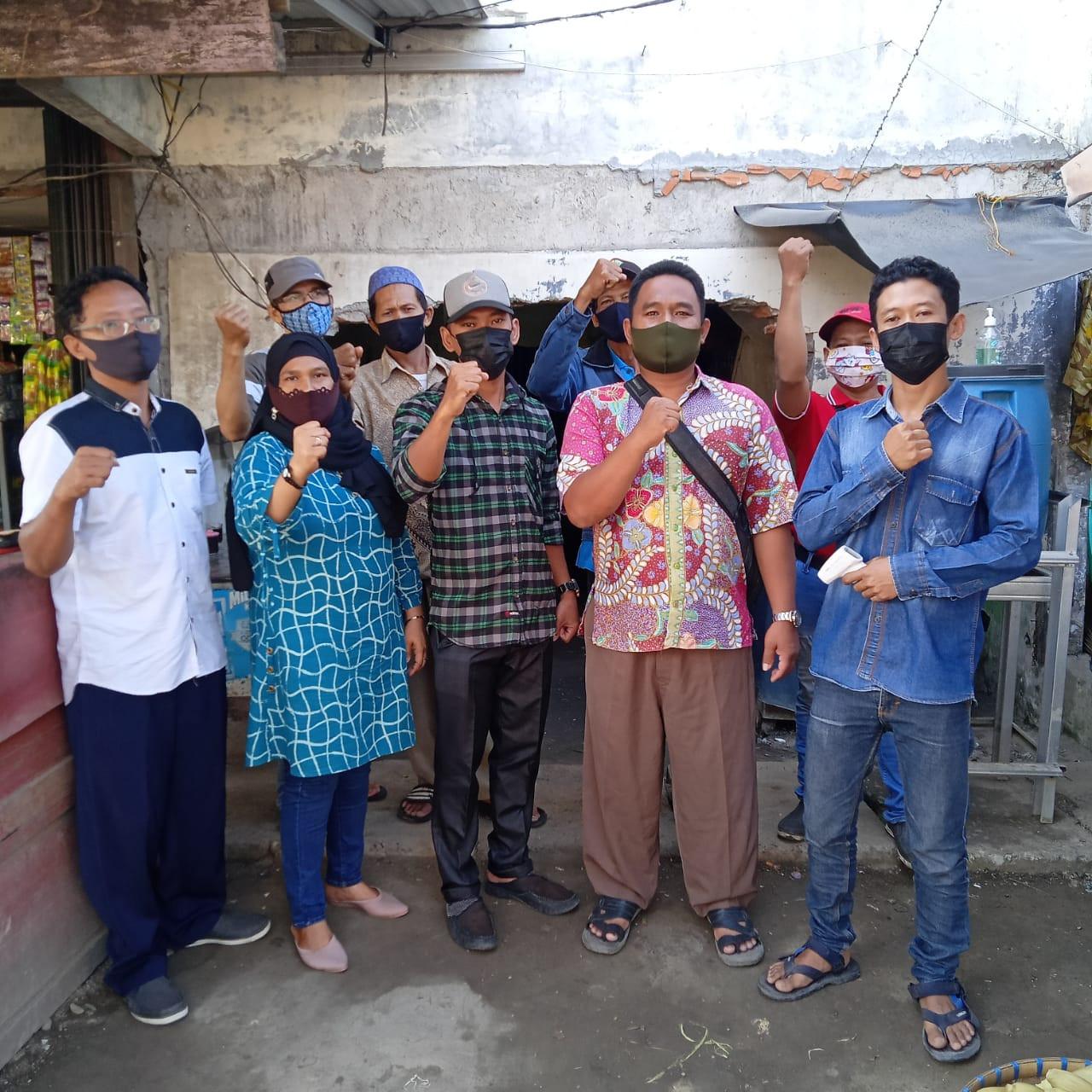 Penjagaan Pasar Kabupaten Demak DI UPTD Paswil II Pasar Sayung Serta Apel Pagi Protokol Kesehatan