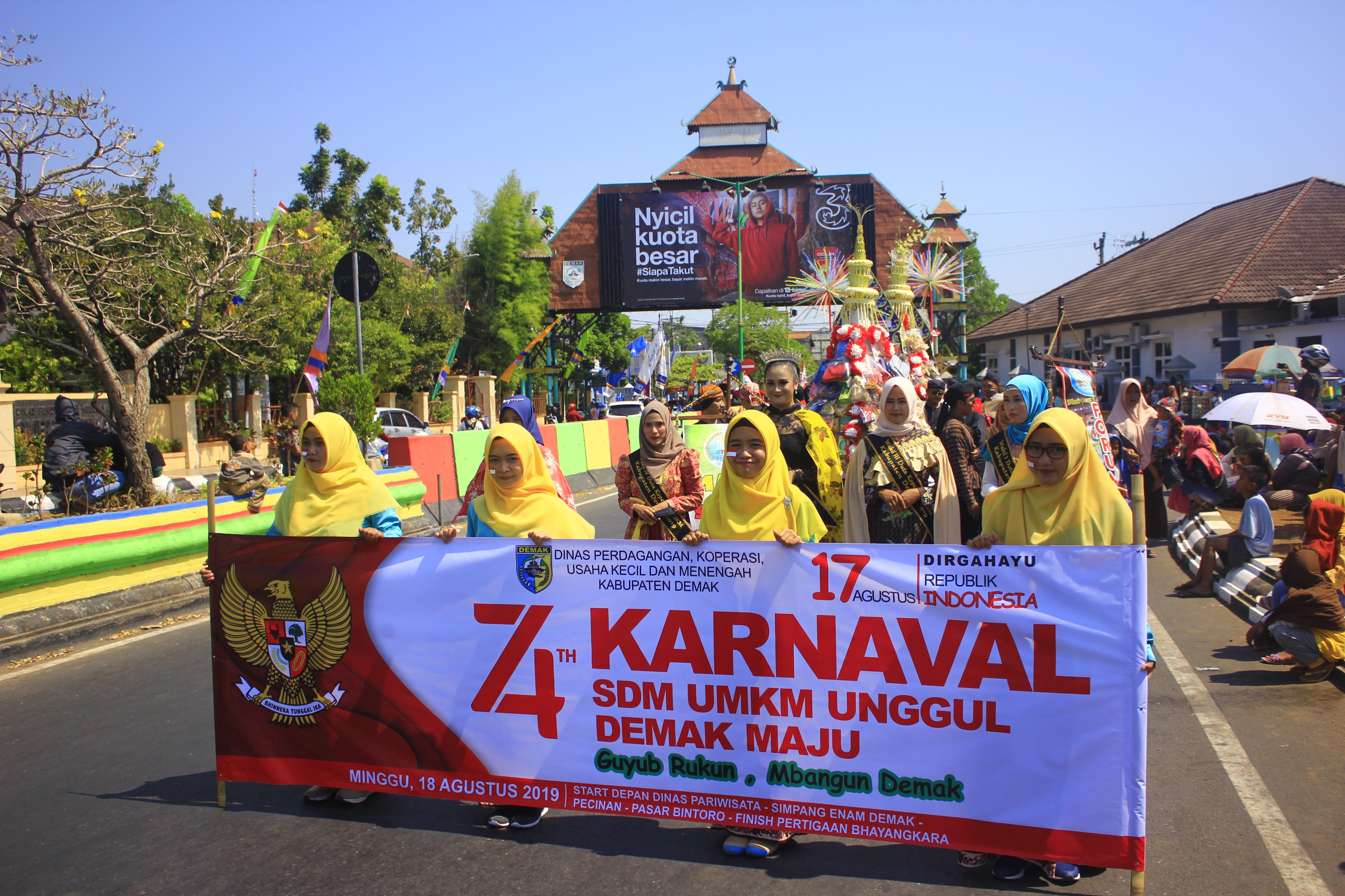 DINDAGKOP UKM KAB. DEMAK dalam Karnaval Memperingati Hari Kemerdekaan RI ke 74 Tahun 2019 Tingkat Ka